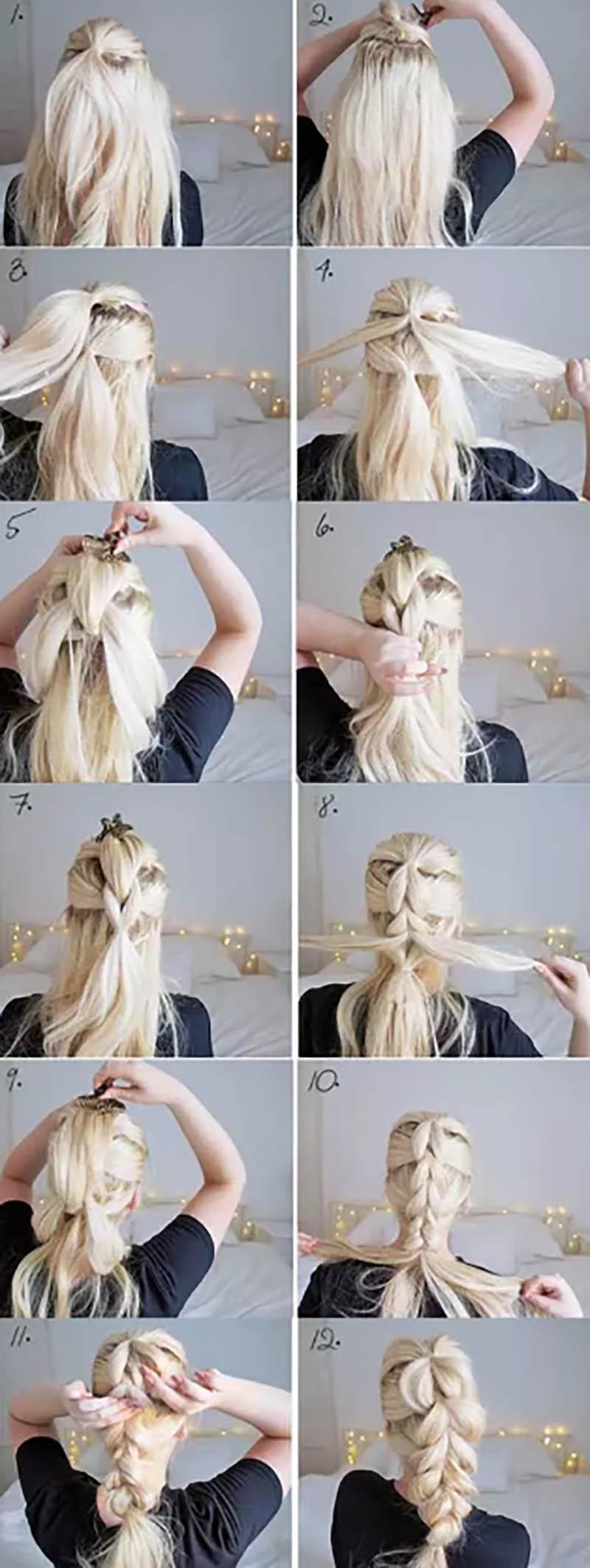 Bện tóc kiểu Pháp ấn tượng