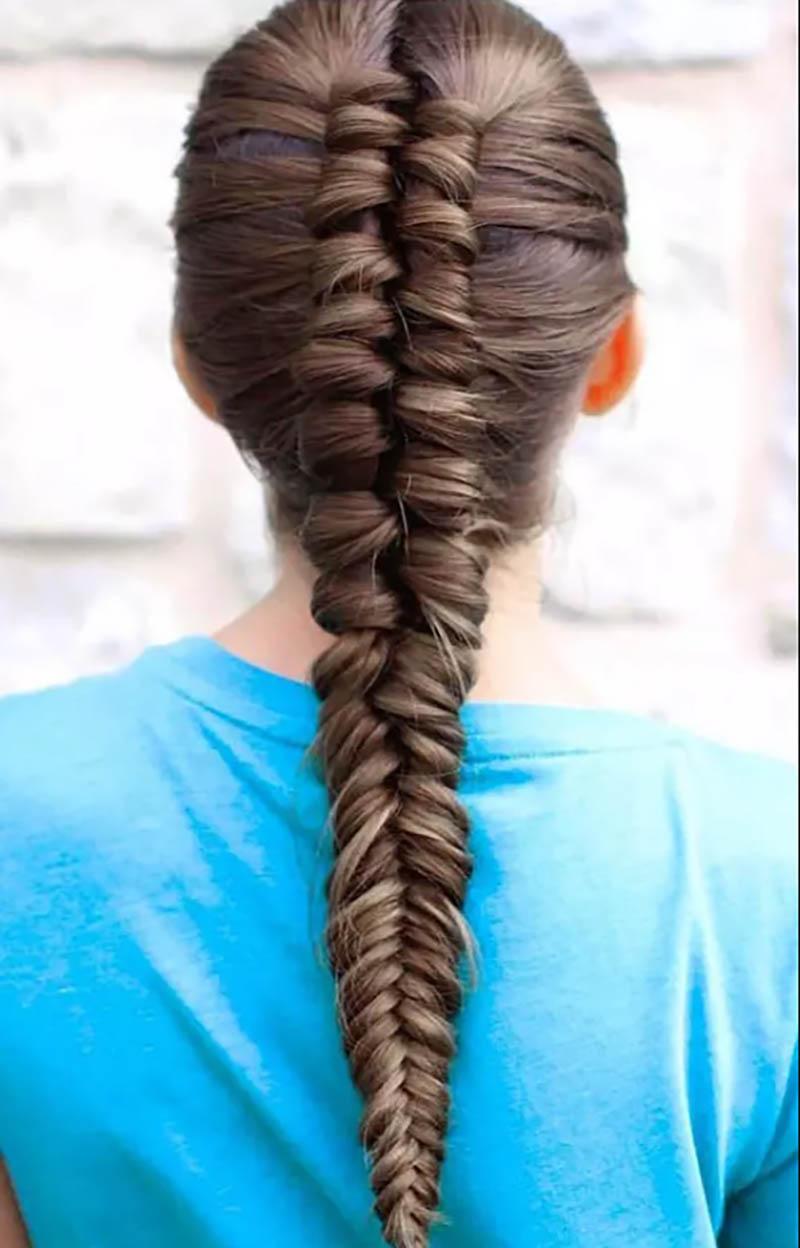Bím tóc đuôi cá độc đáo
