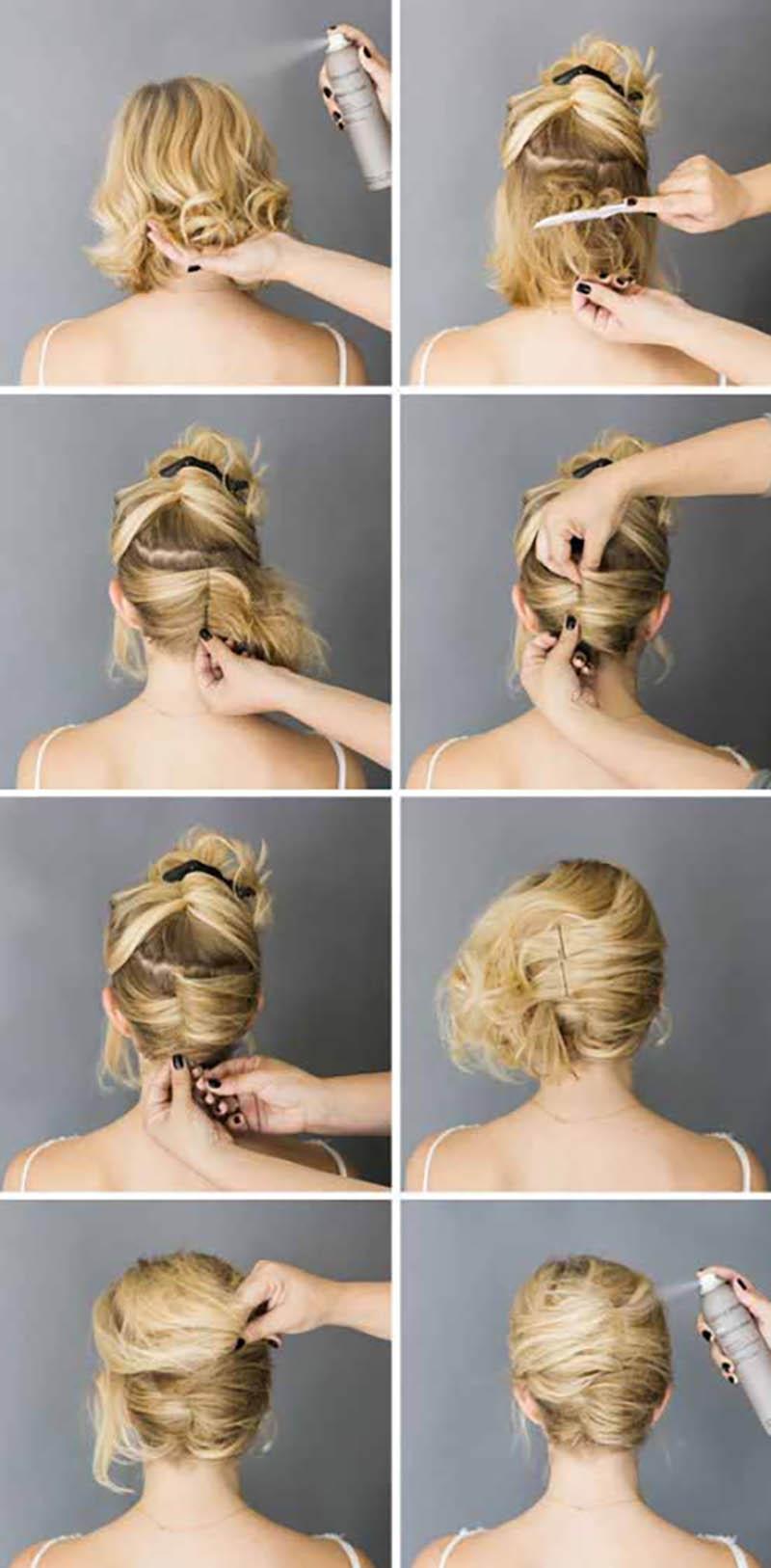 Cách tạo kiểu tóc xoắn hai mặt kiểu Pháp
