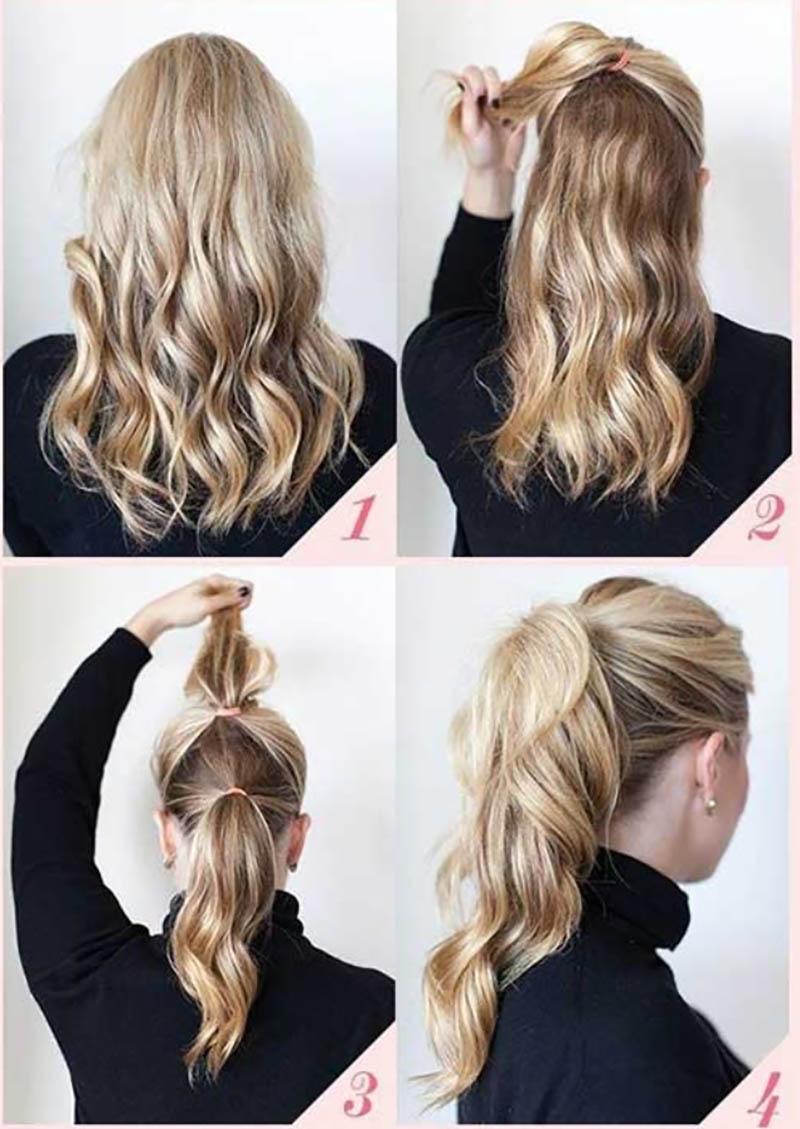 Kiểu tóc đuôi ngựa tinh xảo