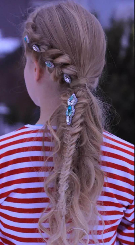Tóc đuôi ngựa Hà Lan có dấu