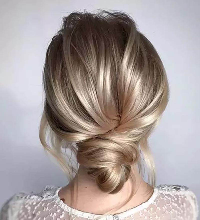 Búi tóc rối thấp