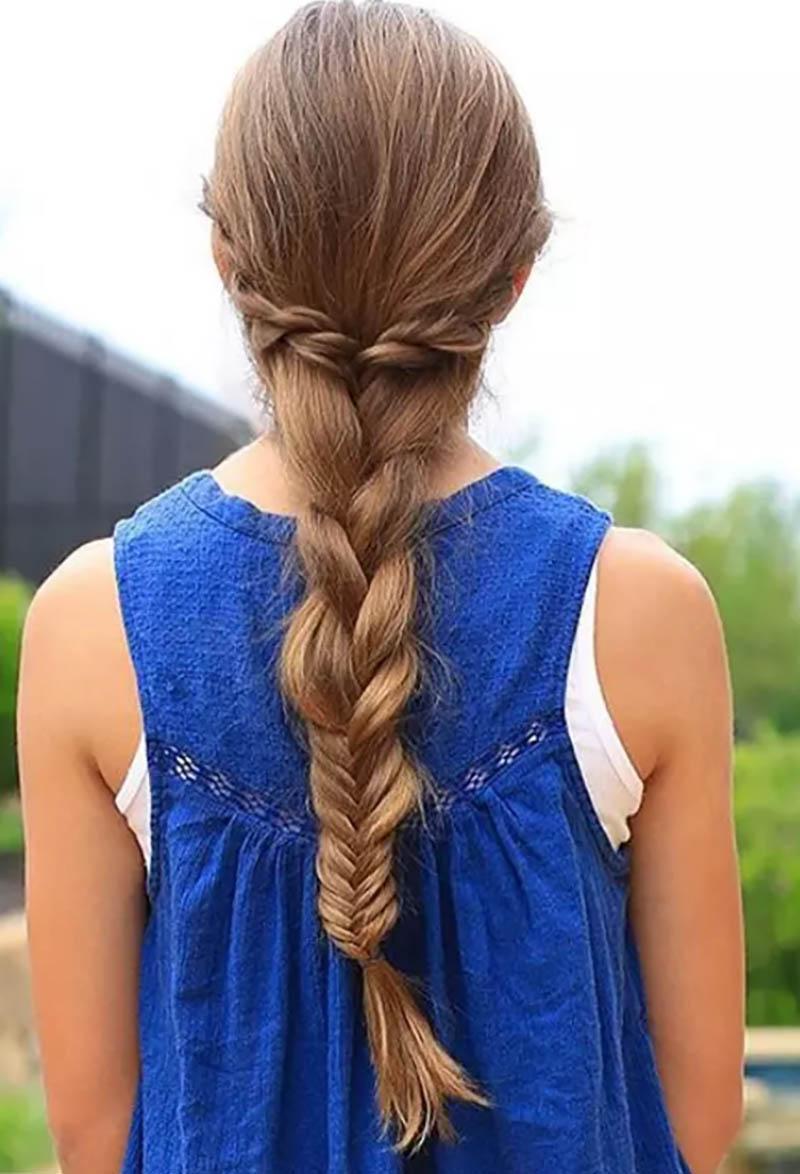 Thắt bím tóc hỗn hợp
