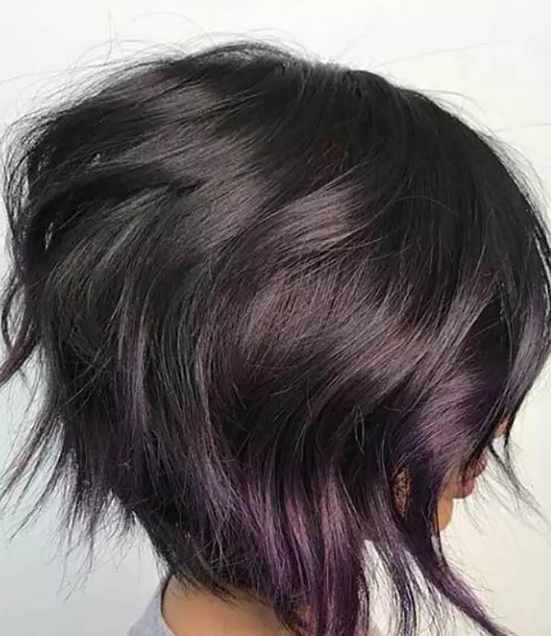 Kiểu tóc bob xoăn ở đuôi