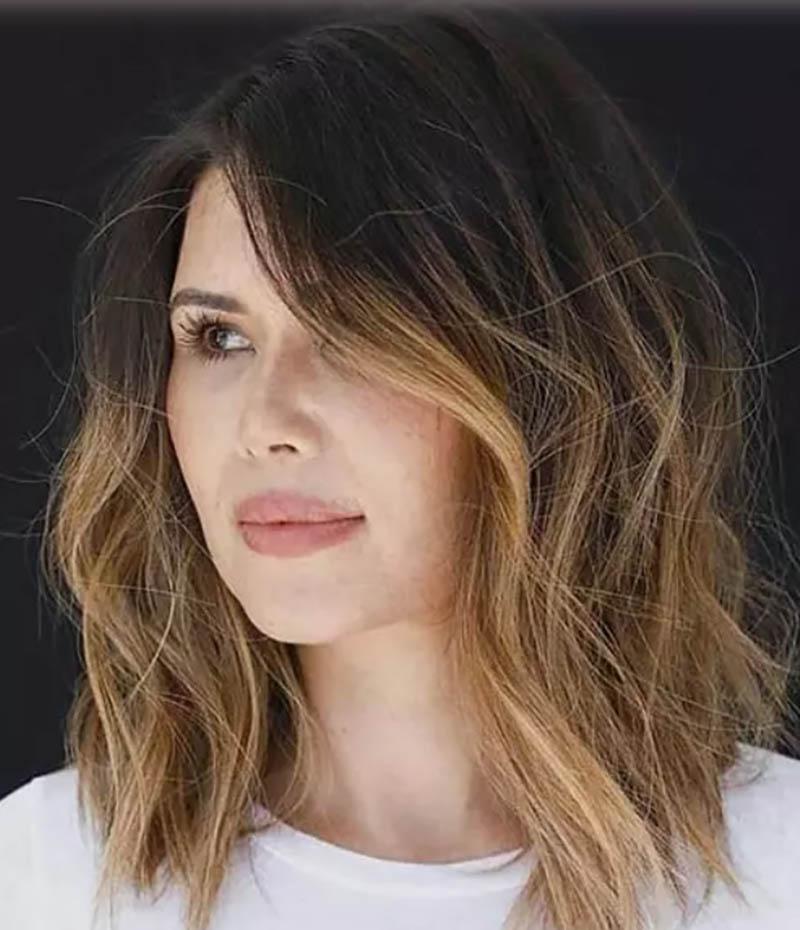 Kiểu tóc lob gợn sóng