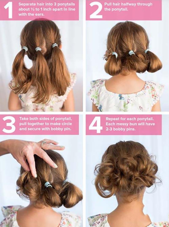 Kiểu tóc Updo - tóc búi thấp