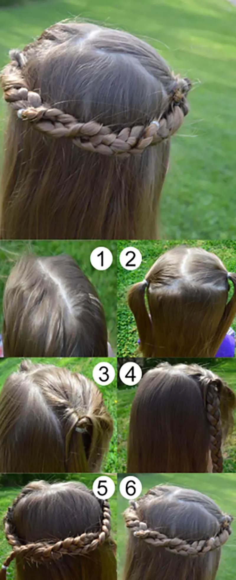 Tết tóc kiểu vương miện