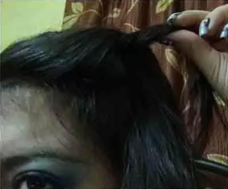 Hướng dẫn thắt tóc kiểu Twister cho nàng bước 3