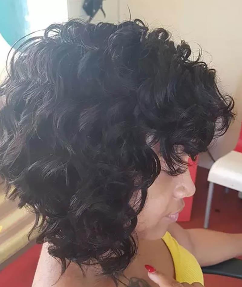 Kiểu tóc bob xoăn gợn sóng cả đầu