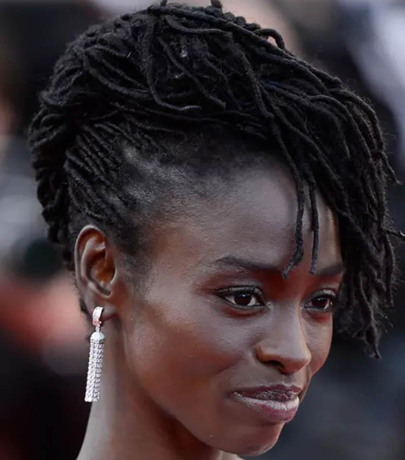 Kiểu tóc châu Phi đảo ngược về phía trước mặt