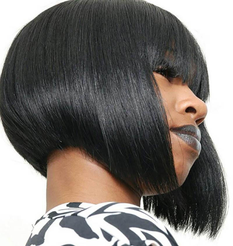 Tóc Bob A-line kết hợp mái ngang