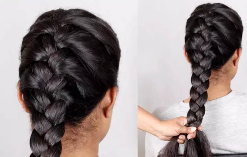 Hướng dẫn cách tết tóc kiểu Pháp đẹp đơn giản tại nhà bước 4