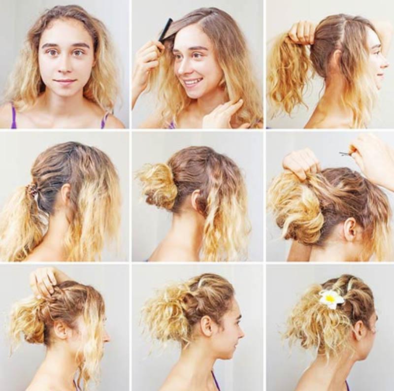 Cách tạo kiểu tóc xoăn đáng yêu lộn xộn
