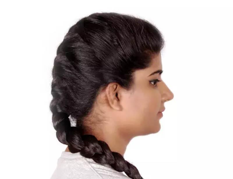 Hướng dẫn cách tết tóc kiểu Pháp đẹp đơn giản tại nhà bước 5