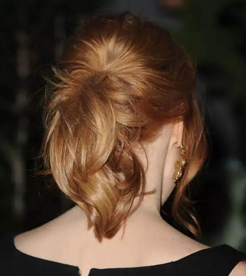 Tóc đuôi ngựa xoăn tỉa layer kết hợp tóc mái