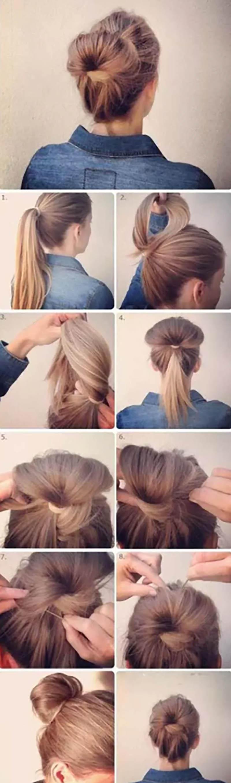 Quấn tóc búi cao