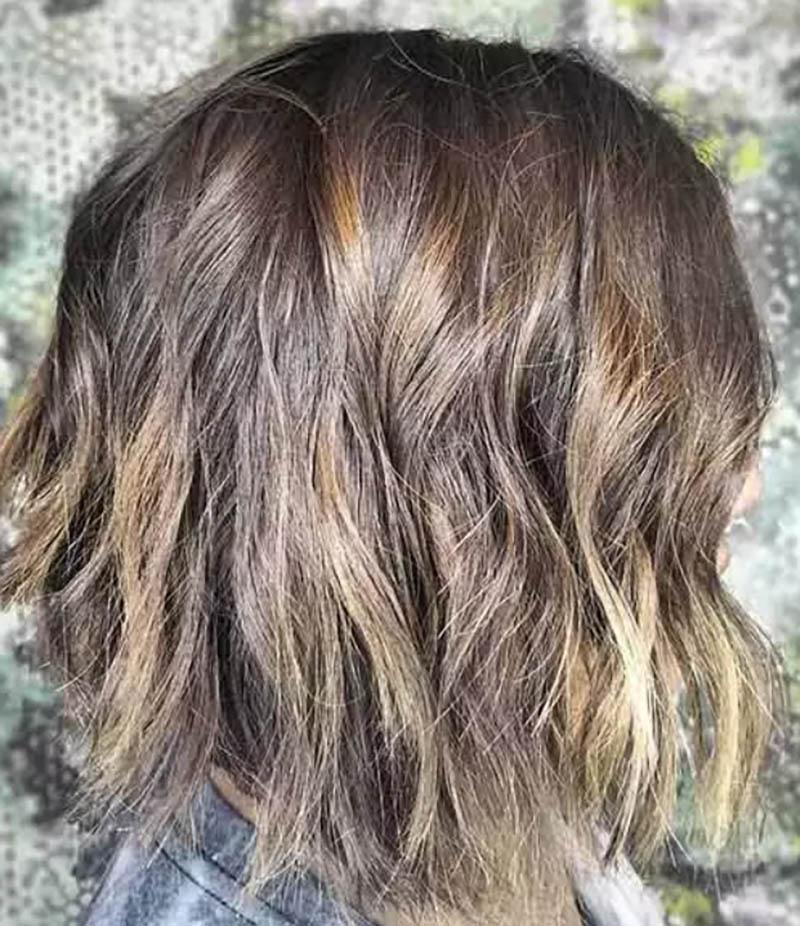 Kiểu tóc bob xoăn gợn sóng bồng bềnh