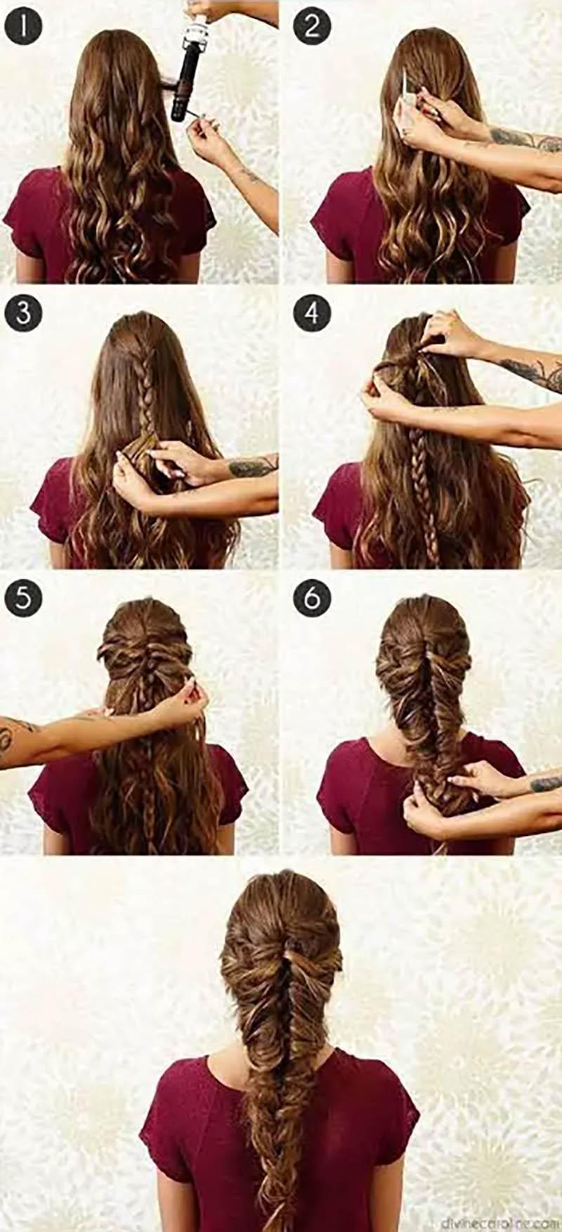 Bện tóc kiểu nàng tiên cá