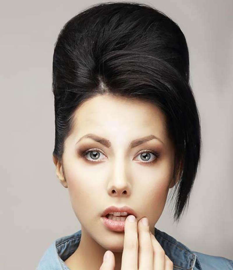 Búi rối tết thấp một bên và tóc mái quyến rũ
