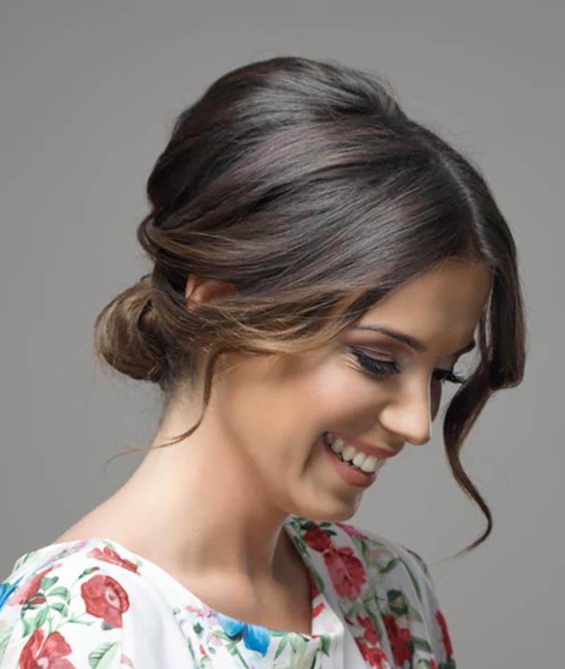 Búi tóc đôi bóng dọc đỉnh đầu