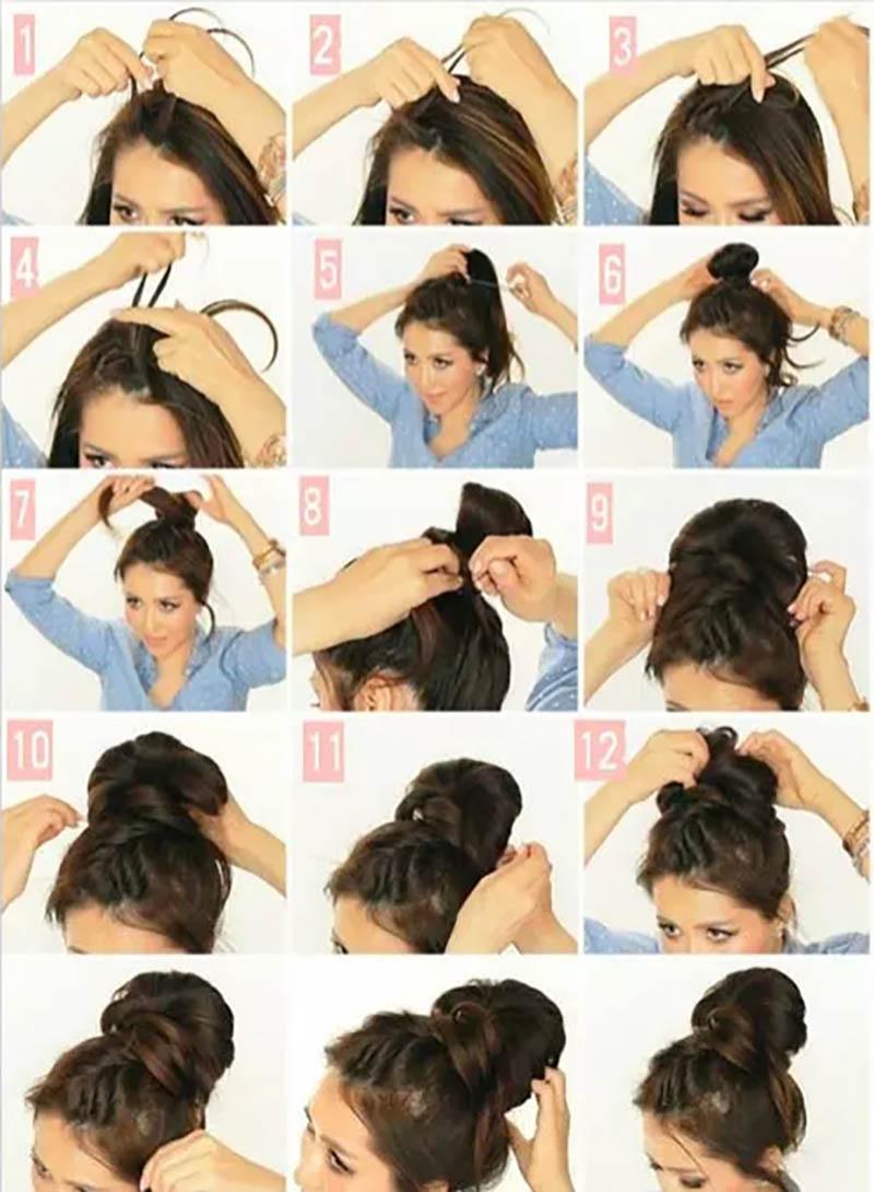 Búi tóc kiểu Pháp