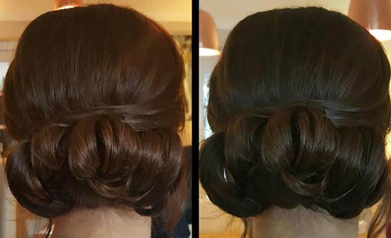 Búi tóc thấp đơn giản