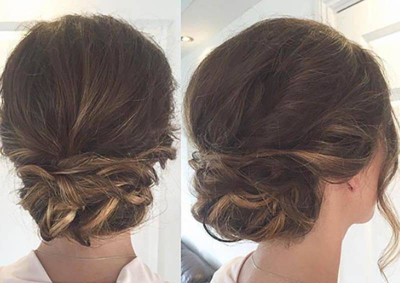 Búi tóc thấp xoắn cơ bản