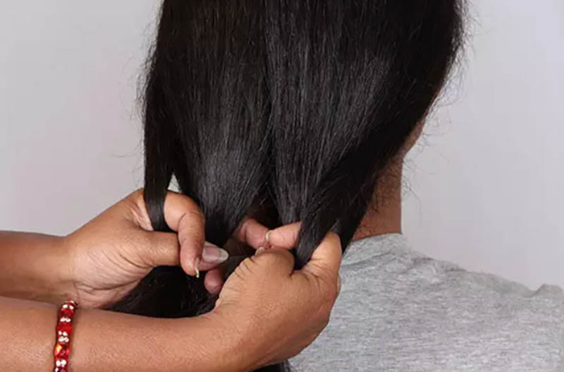 Hướng dẫn tết tóc đuôi cá đơn giản và chi tiết nhất bước 3