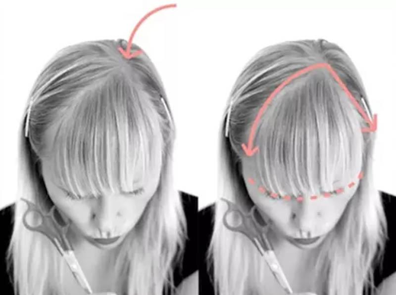 Đối với tóc mái một bên