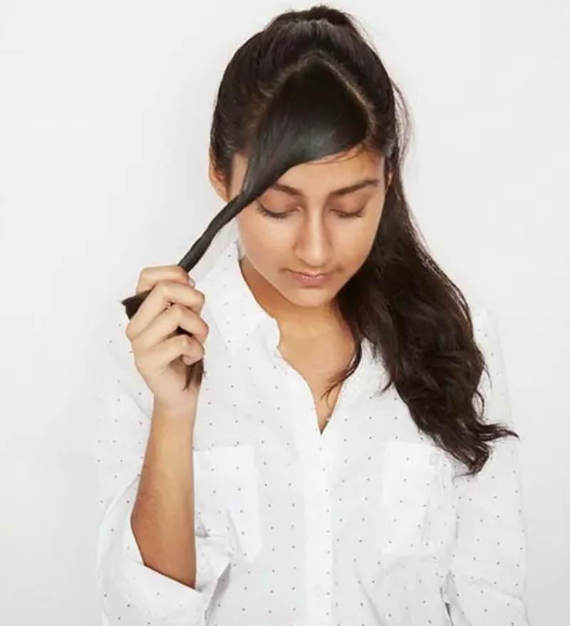 Đối với tóc mái thẳng