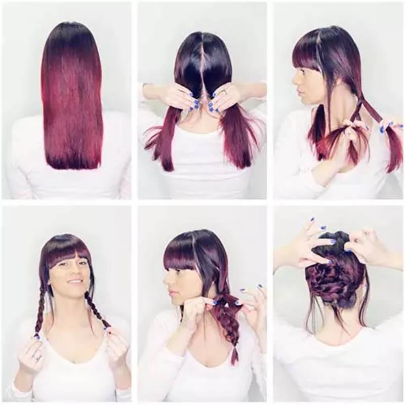 Kiểu tóc Braided Bun Updo