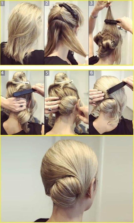 Kiểu tóc búi thấp cách điệu