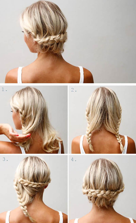 Kiểu tóc Lace Braid Updo