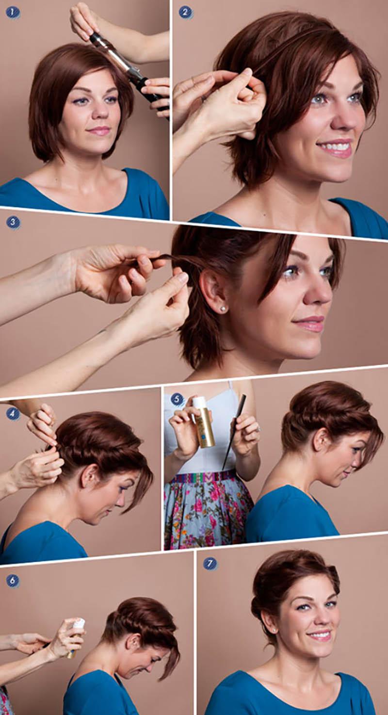 Kiểu tóc ngắn Updo