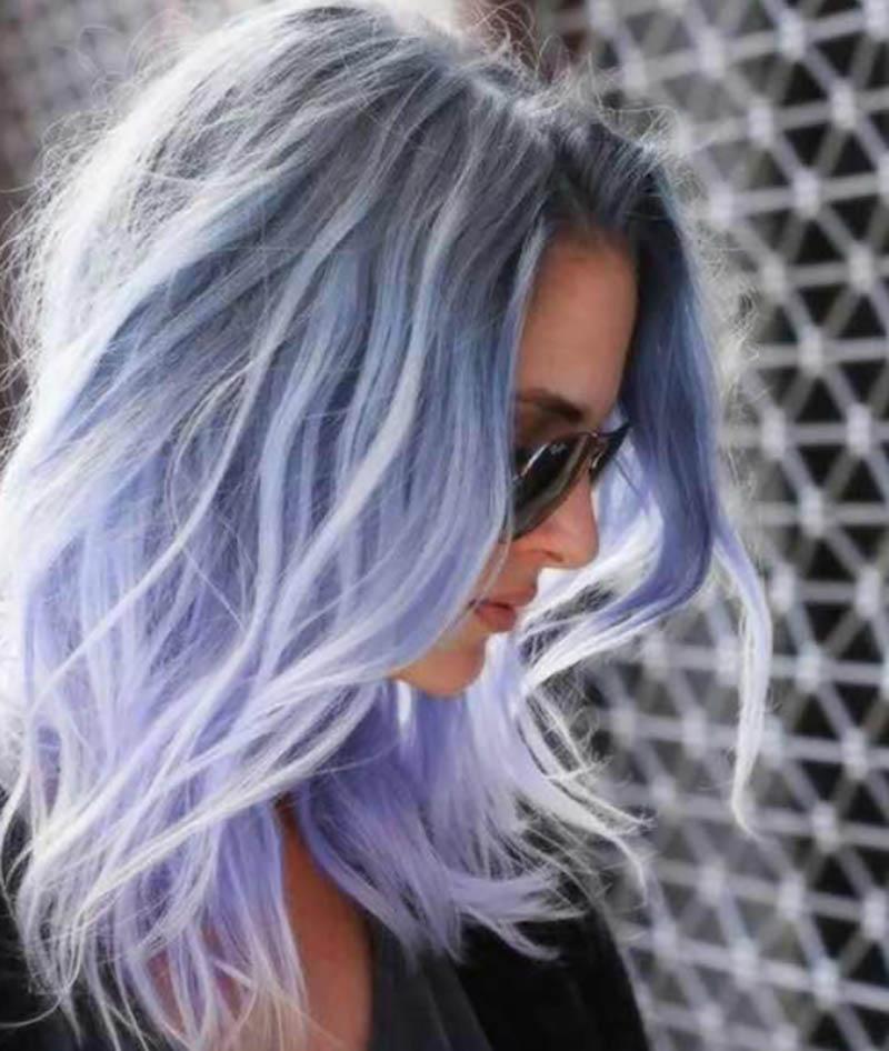 Kiểu tóc rung động với màu sắc