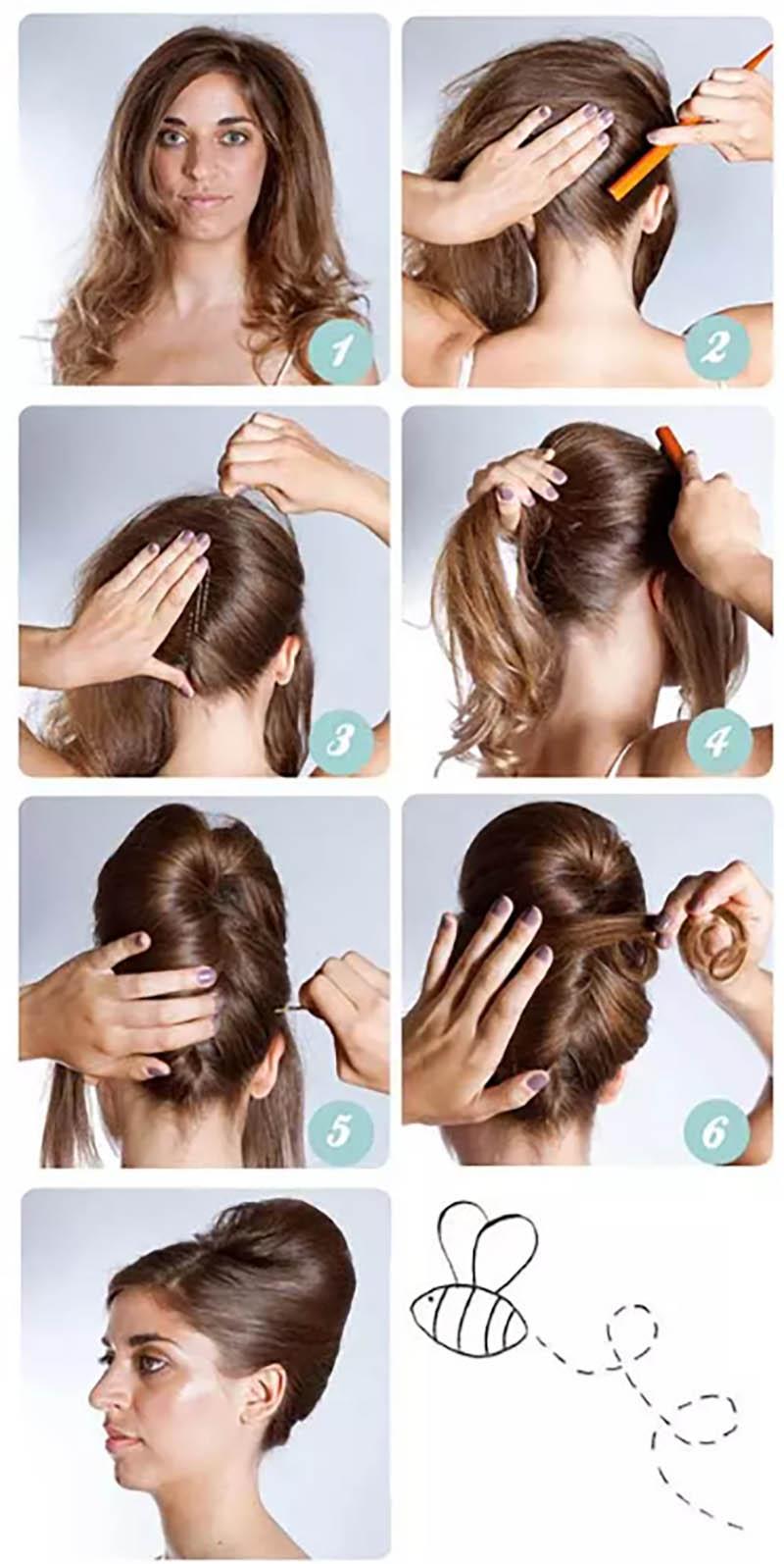 Kiểu tóc tổ ong Updo