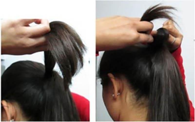 Kiểu tóc updo thanh lịch phù hợp cho trang phục Ấn Độ bước 3