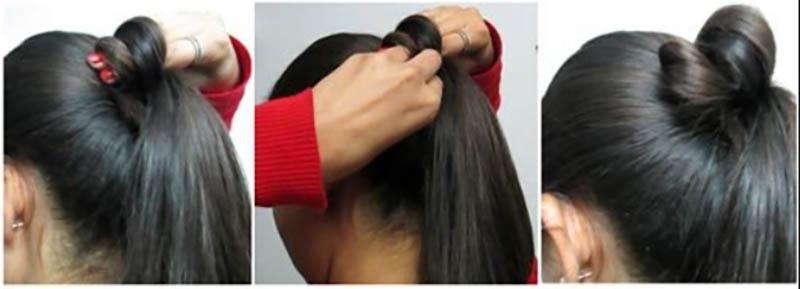 Kiểu tóc updo thanh lịch phù hợp cho trang phục Ấn Độ bước 4