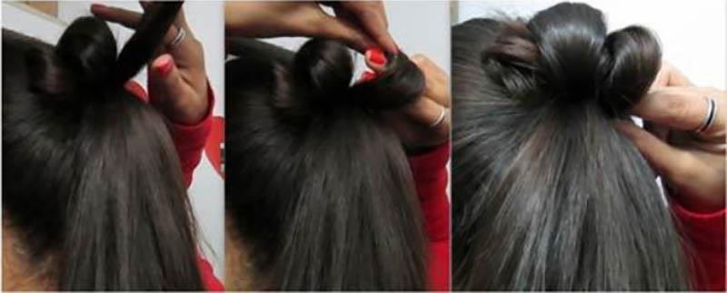 Kiểu tóc updo thanh lịch phù hợp cho trang phục Ấn Độ bước 5