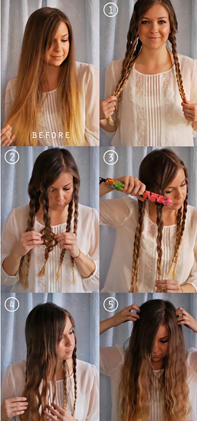 Kỹ thuật bện tóc thẳng