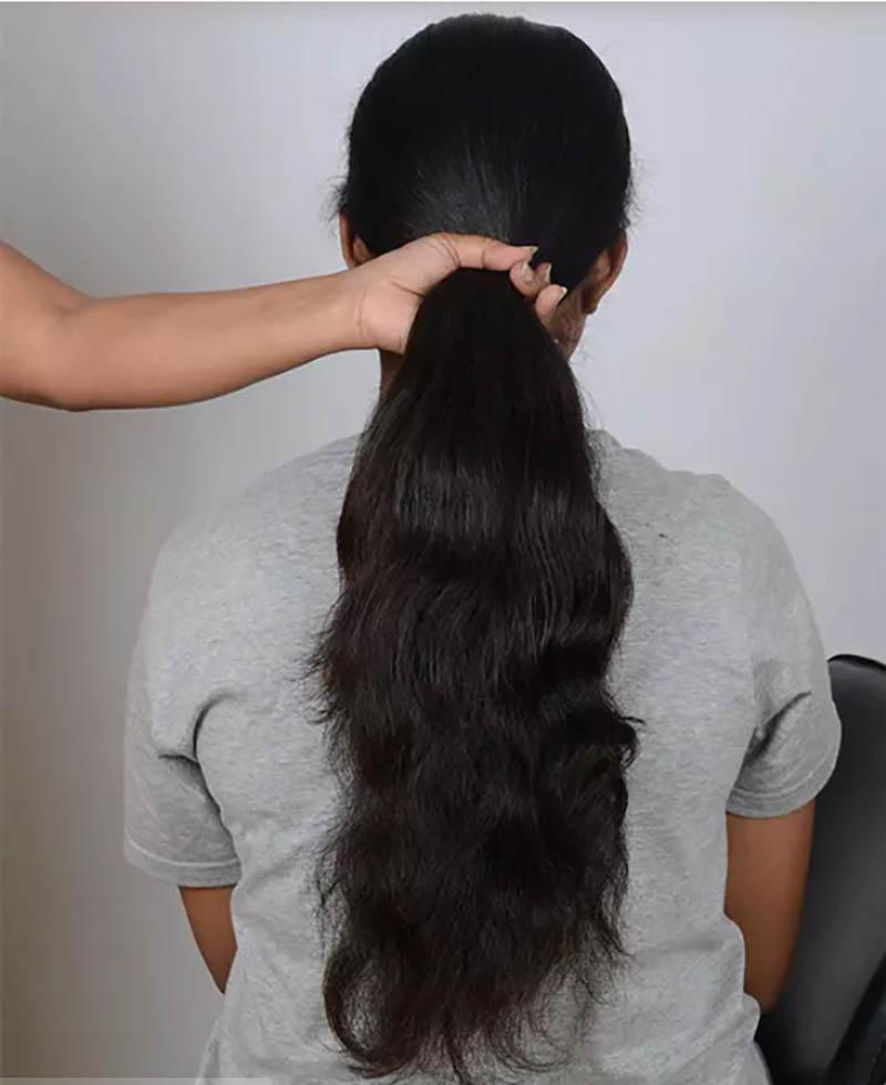 Hướng dẫn tết tóc đuôi cá đơn giản và chi tiết nhất bước 1
