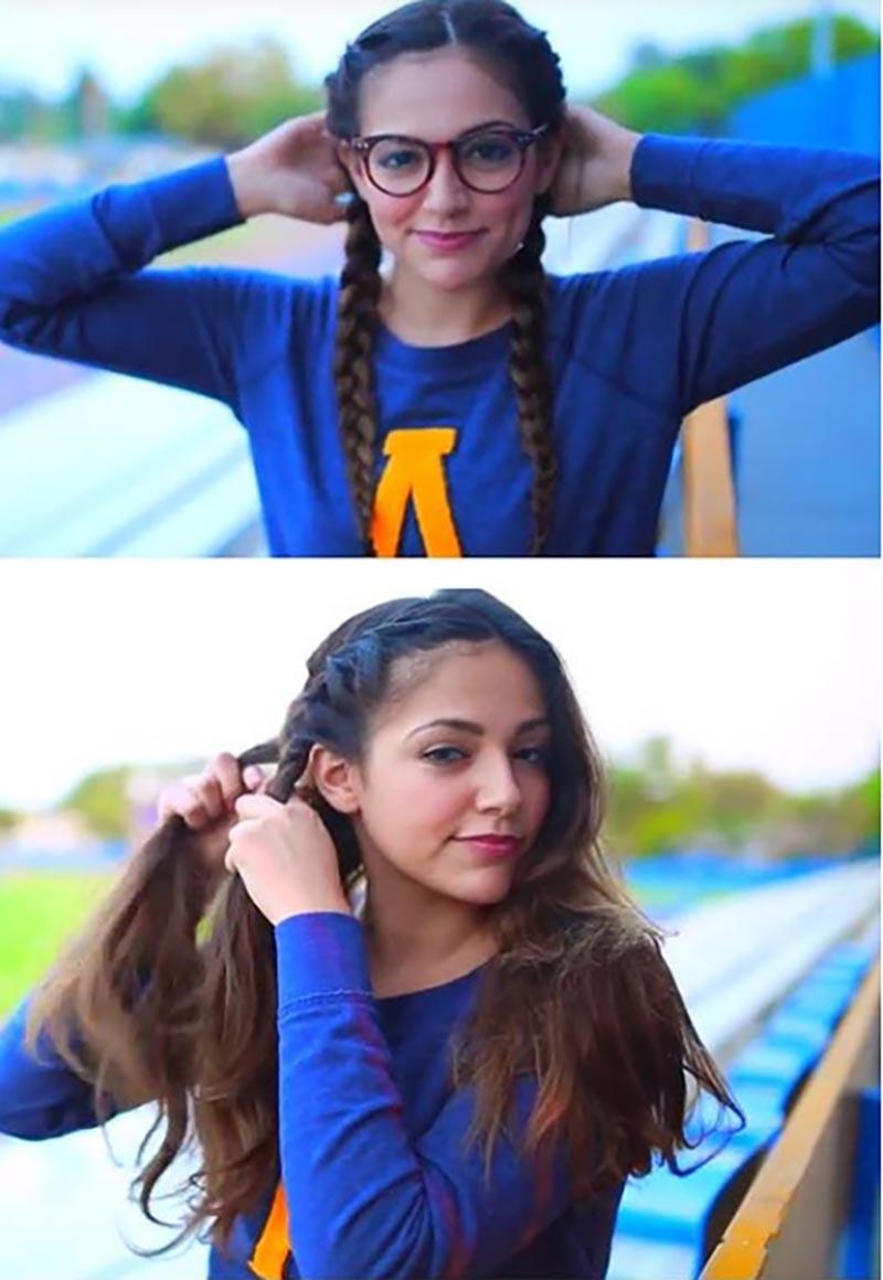 Tết tóc kiểu cô gái Hà Lan