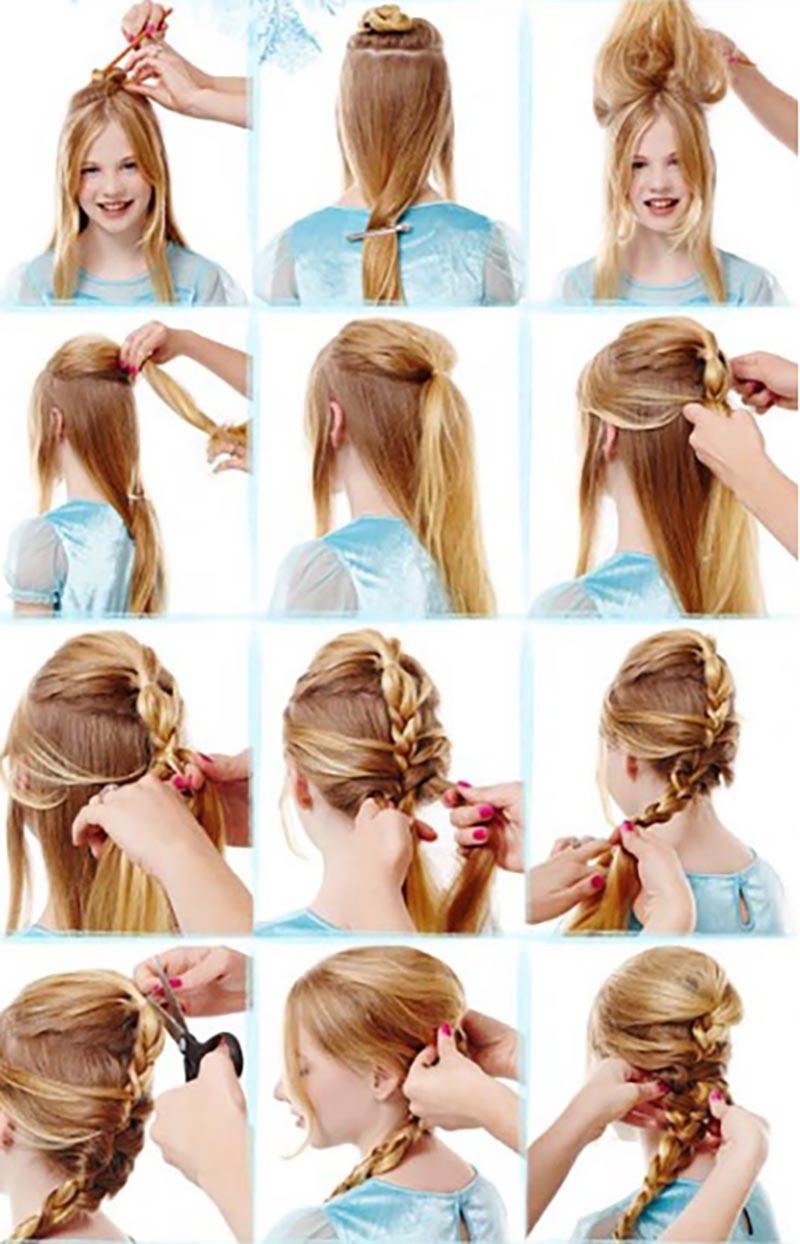 Tết tóc kiểu Elsa