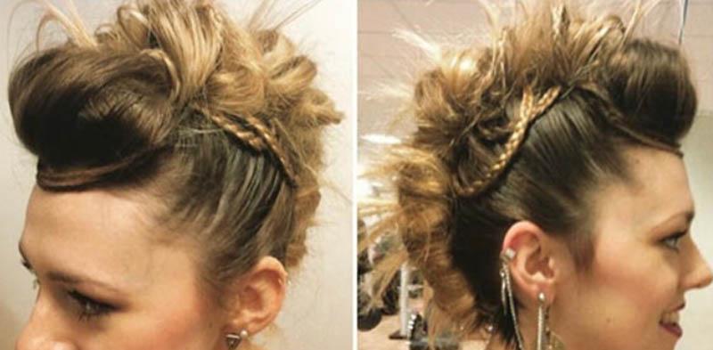 Tóc xoắn Mohawk kết hợp tóc tết Micro-Braids