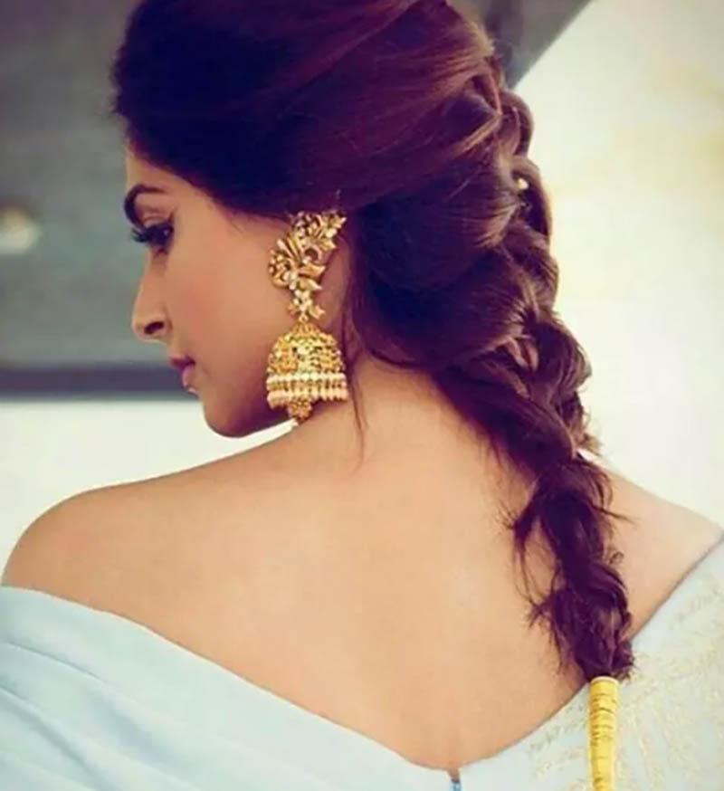 Tết tóc kiểu Pháp bằng sợi Zari