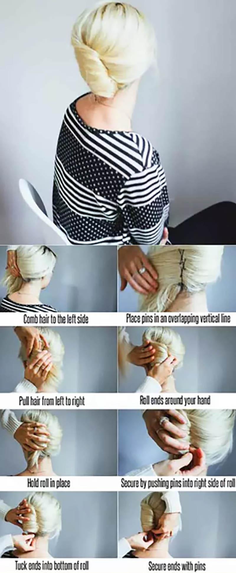Tóc cuộn kiểu Pháp đơn giản