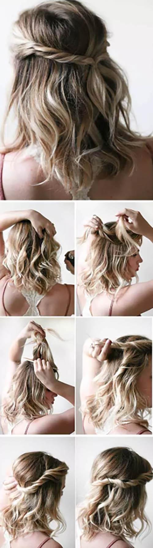 Kiểu tóc quấn đơn giản