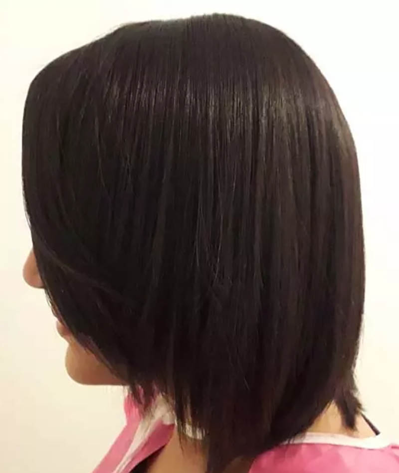 Kiểu tóc bob với các lớp xếp tầng mỏng
