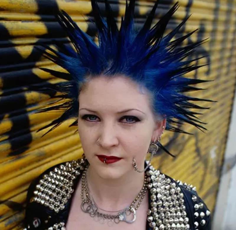Kiểu tóc Spiky Cobalt Blue Liberty