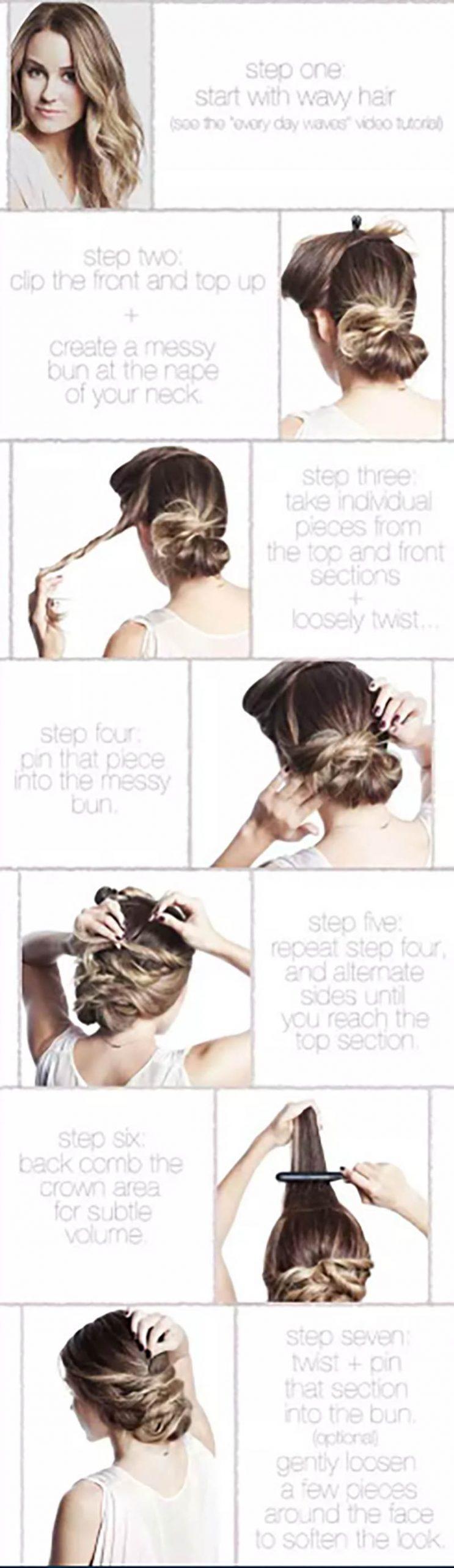 Búi tóc kiểu đan xoắn
